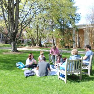 Campus Quad: outdoor green space in the center of campus.