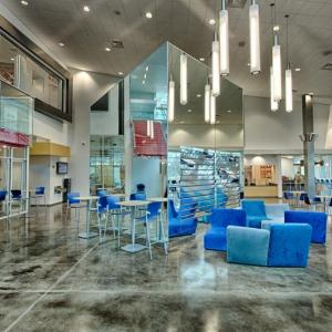 The Armand-Hammer Center has a sleek and modern interior
