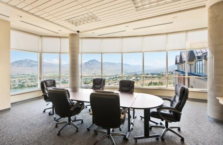 Ideal for small meetings or receptions with stunning views of Kamloops.