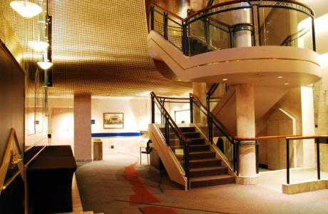 The Lobby of the Engineered Air Theatre lends itself perfectly for breaks or receptions