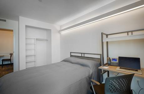 Furnished Bedroom - Double Size Bed, TV and Desk