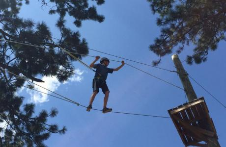 The Ropes Course allows for team building.