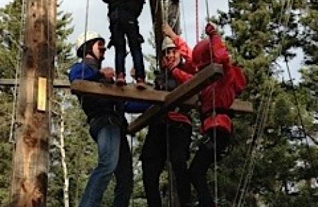 High Ropes Course - Camp Chief Hector, Canmore, Canadian Rockies