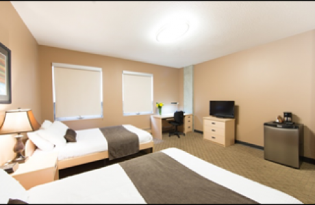 Newly updated Queen double hotel room - available year-round