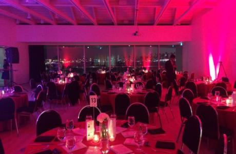The Polygon Gallery's Seaspan Pavilion/Event Gallery - Banquet set up