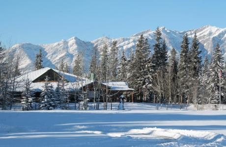 Hector Lodge in January - Camp Chief Hector, Canmore, Canadian Rockies