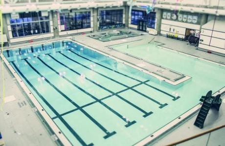 25 metre pool with 40 person hot tub and steam room