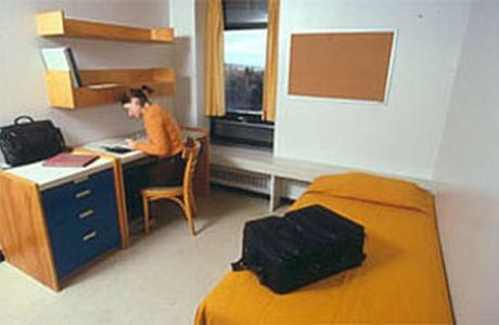 Single dorm-style room