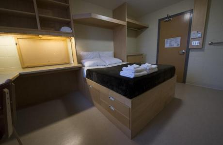 Standard double room in one of our Paton College residences