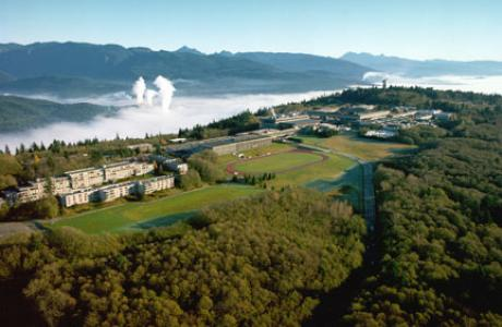 Simon Fraser University Ariel View looking North East
