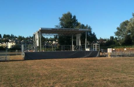 Concert rental items include stage, bleachers, ticket booths, crowd barriers