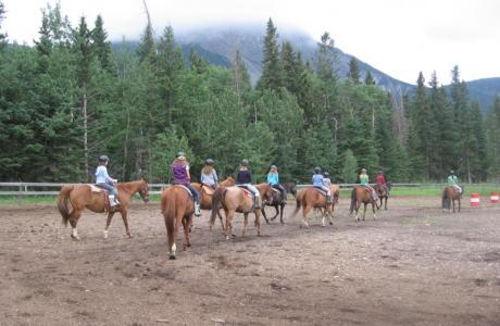 Horse Riding - Camp Chief Hector, Canmore, Canadian Rockies