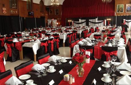 Wedding reception in our dining hall