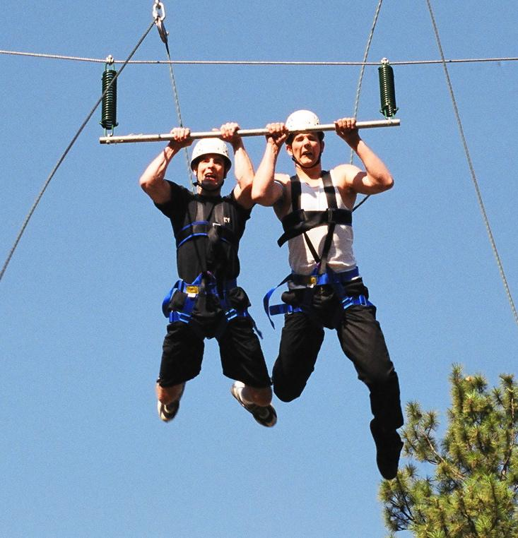 The Tower tests your balance and bravery on the Ropes Course.