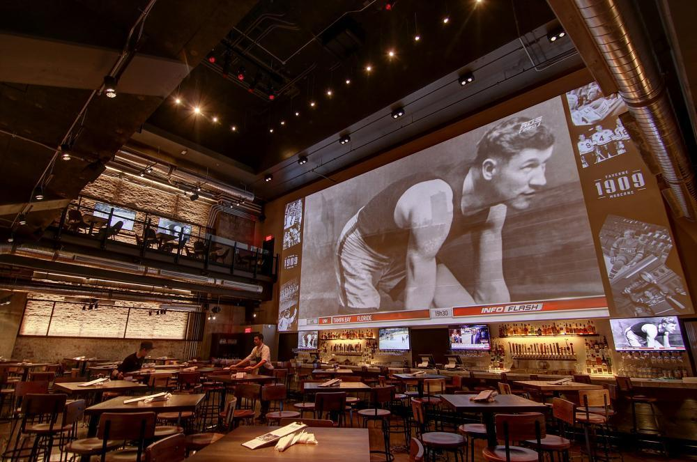 Giant screen viewed from the Concourse floor