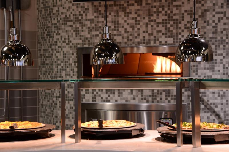 Fresh baked Pizzas from our Pizza Oven