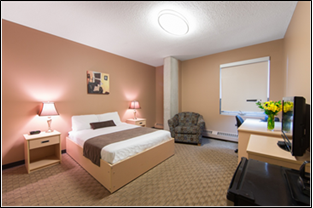 Newly updated Queen Hotel room - available year-round