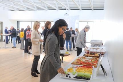 The Polygon Gallery's Seaspan Pavilion/Event Gallery - Buffet set up