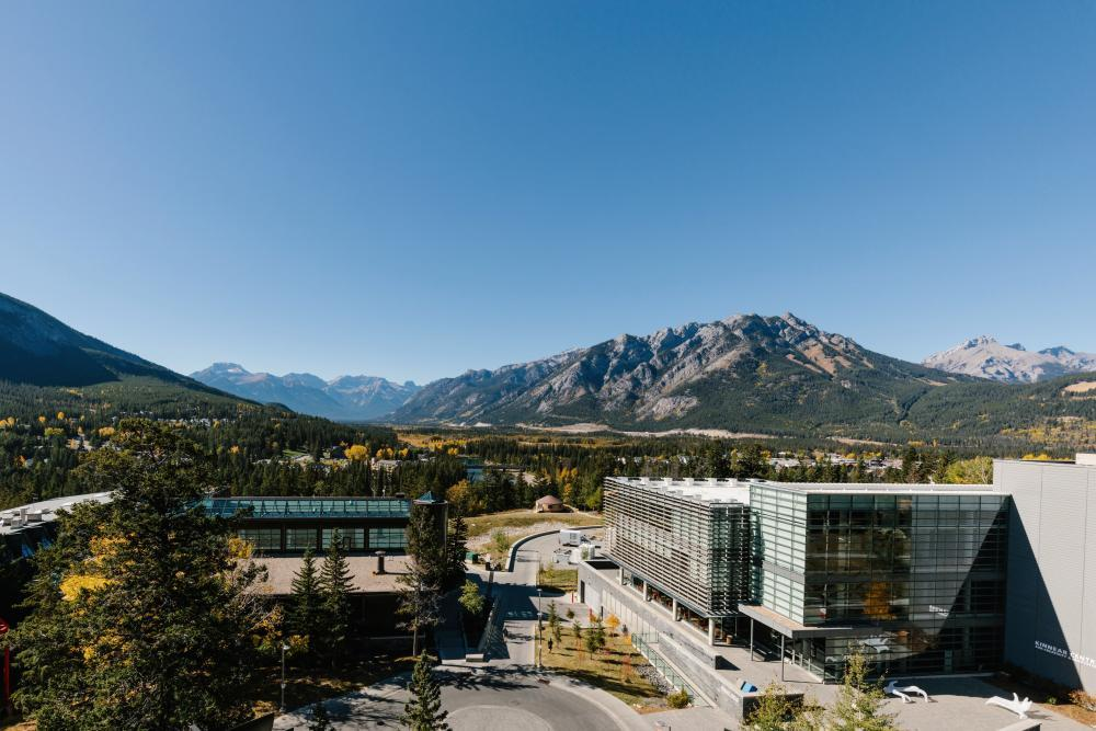 Extraordinary views at Banff Centre for Art and Creativity