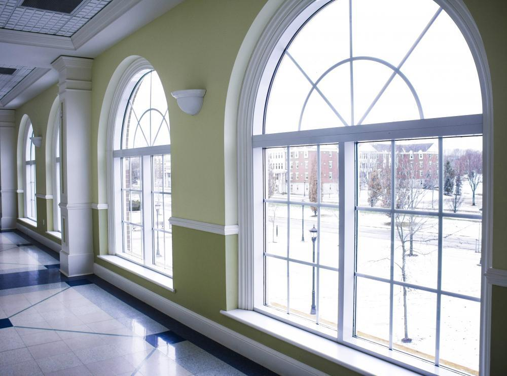 Large windows in the Charles V. Keating Centre