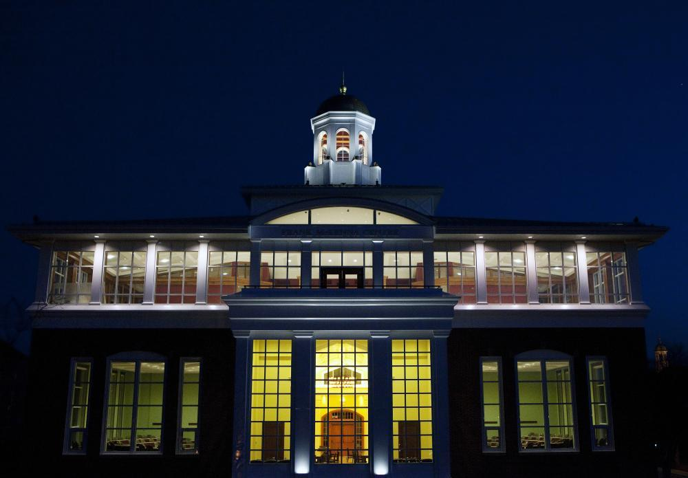 The Frank McKenna Centre for Leadership at night