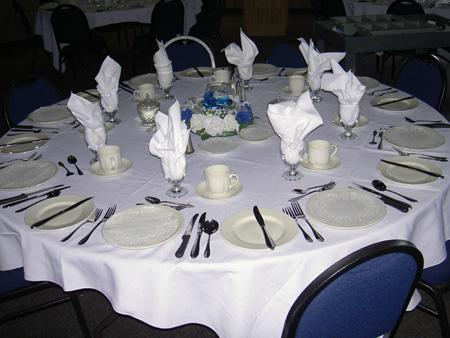 Reception / Banquet Table Setting