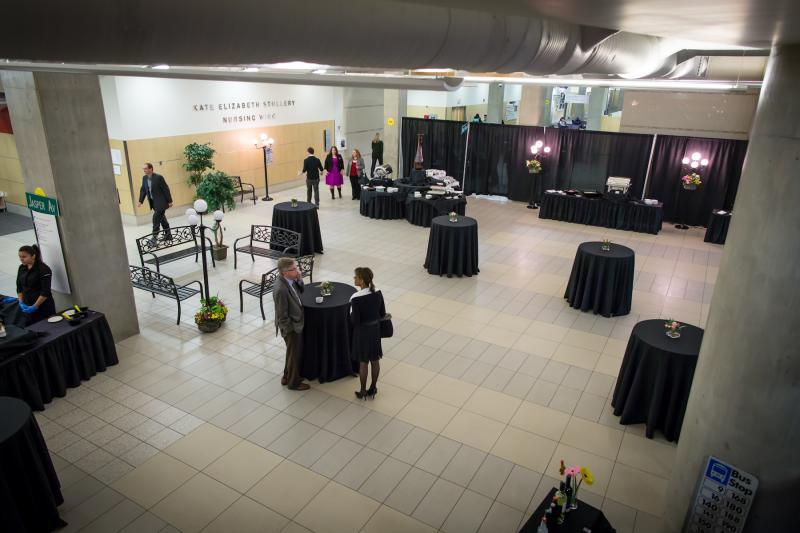 The Atrium is a great space for cocktail receptions and tradeshows