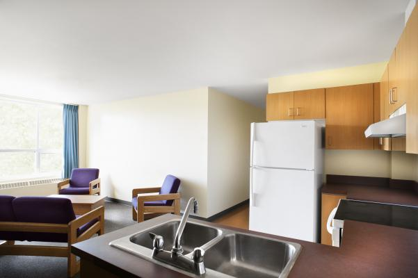 Each apartment has a fully equipped kitchen, living room and complete bathroom.