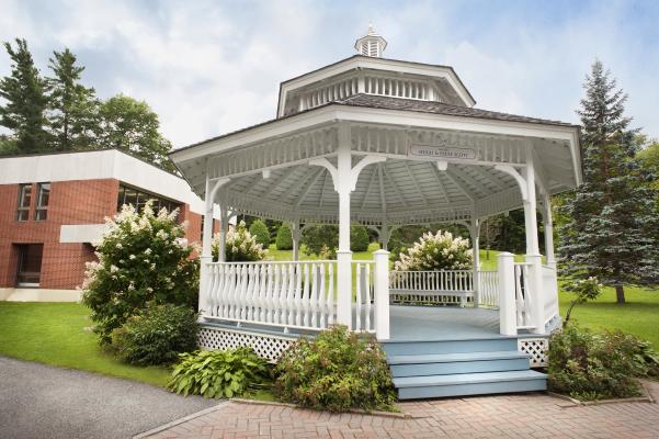 Located near Bandeen Hall and Cleghorn room, the gazebo is the perfect location