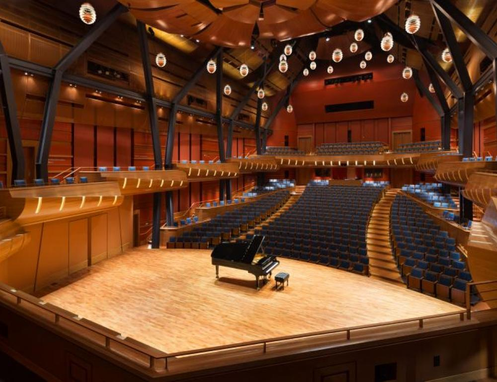 Bella Concert Hall in the Taylor Centre Stage View
