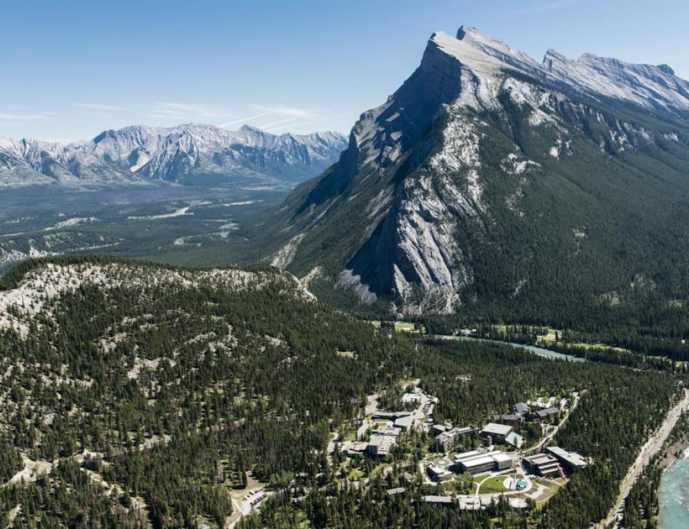 Banff Centre is located in the heart of Banff National Park
