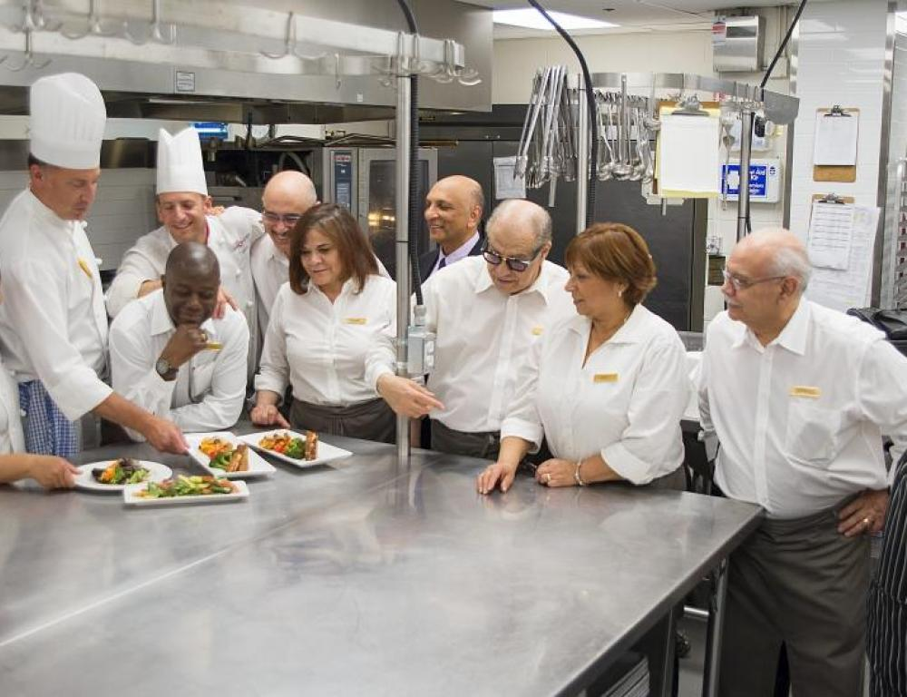 Executive Chef Murray Hall and his culinary team