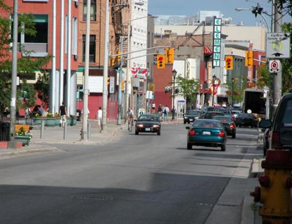 Shopping minutes away in Downtown Kitchener
