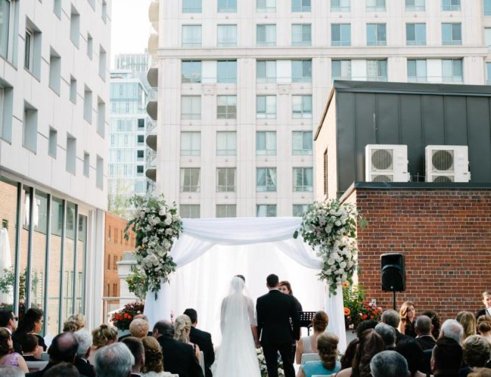 Outdoor Day Rooftop Ceremony