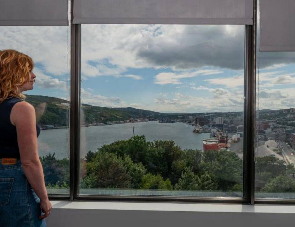 View from Emera Innovation Exchange Conference Centre, Signal Hill Campus