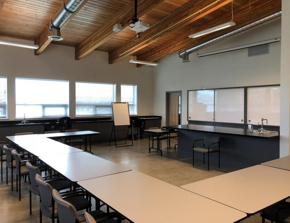 Annacis Research Centre Science Classroom Whiteboard View