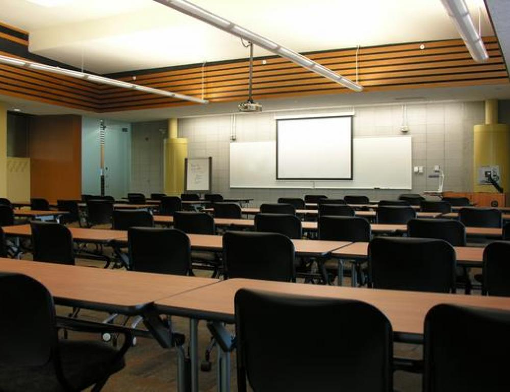 Xerox Training Room in the Roderick Mah Centre for Continuous Learning
