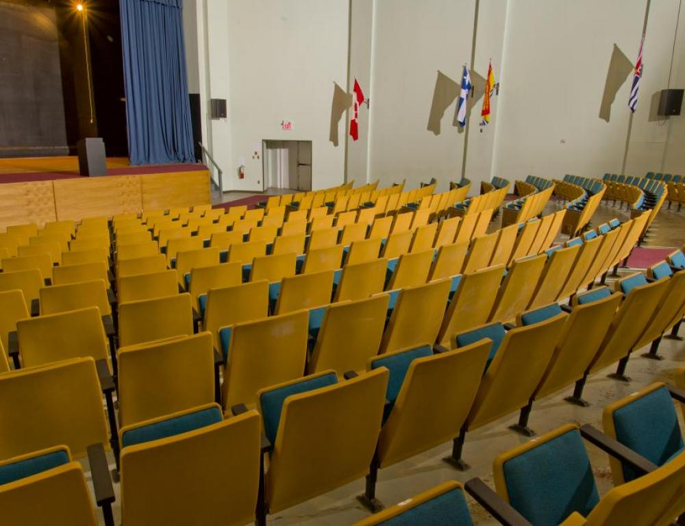 Use our 588 seat theatre to launch your retreat or conference!