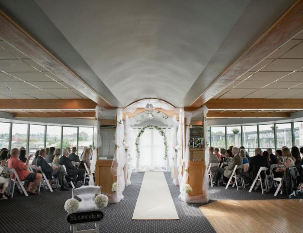 Wedding Ceremony at False Creek Yacht Club