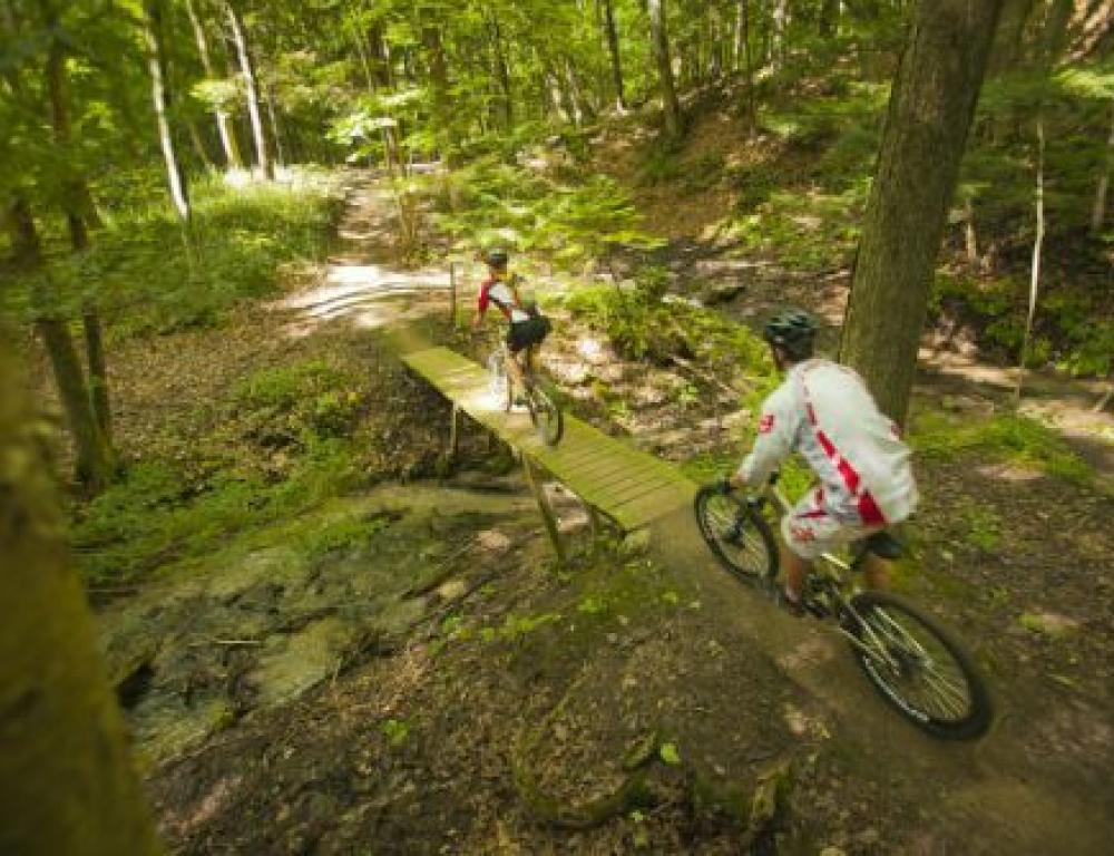 Over 75km of biking trails connected to our property!