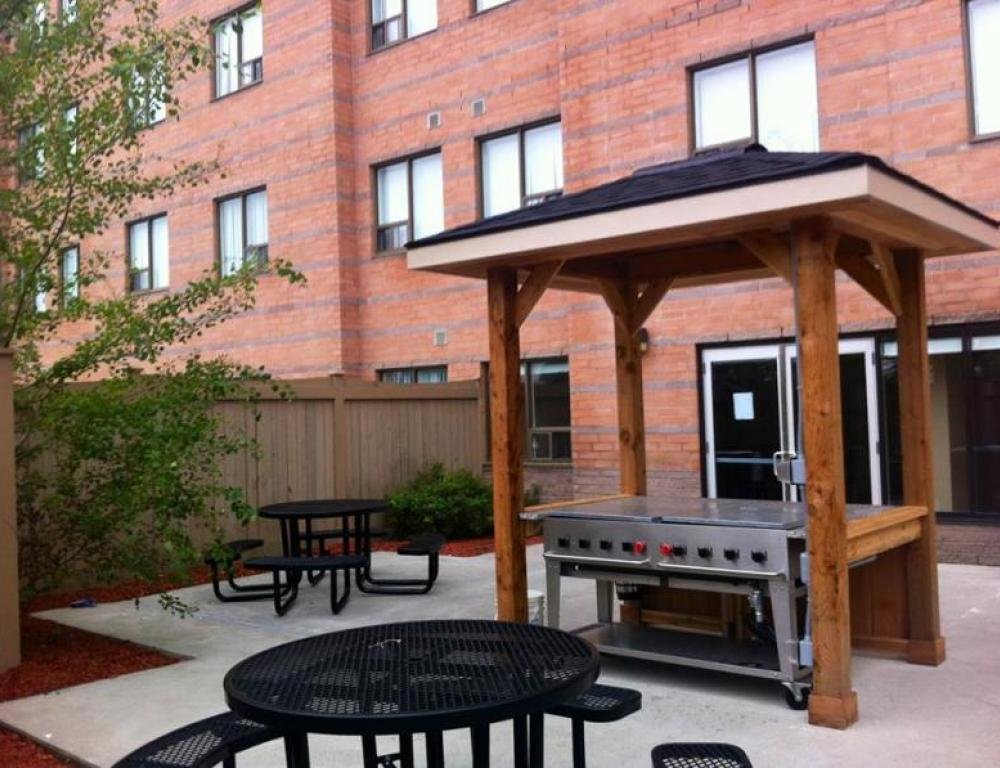 Patio with outdoor grills