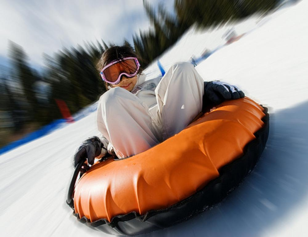 RockRidge Canyon has it's own tubing hill.  We provide tubes and helmets.