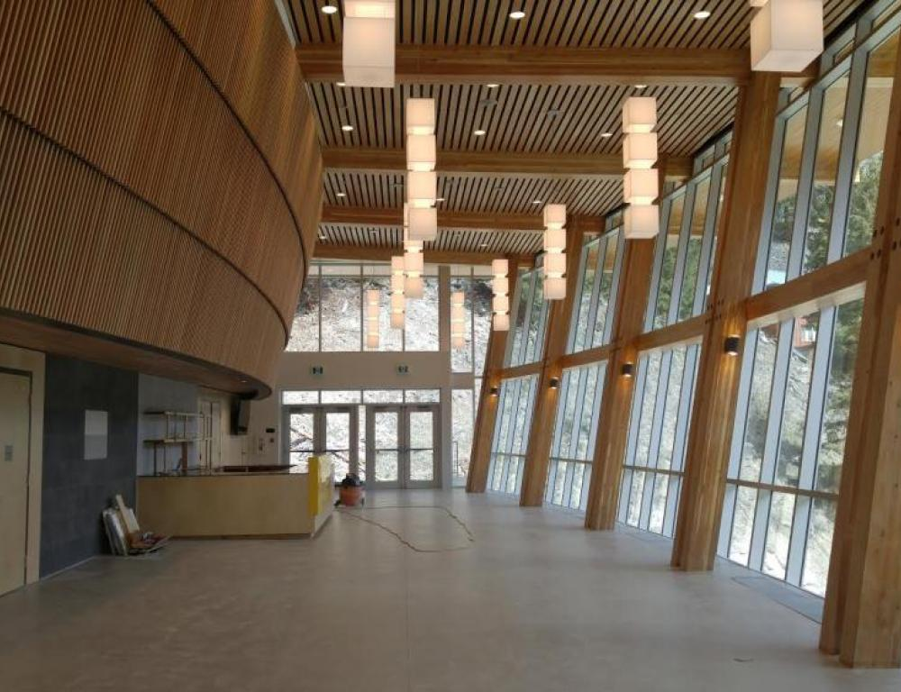 The Rock Theatre - it's lake view foyer can be used for receptions.